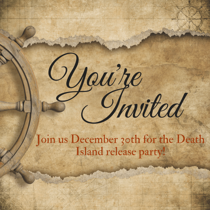 Death Island Release party invite